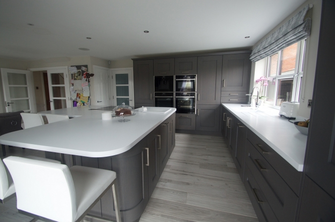 Clonmel Kitchen in Stained Anthracite, Project by Elite Kitchens Manchester