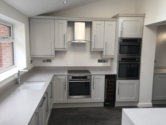 Madison Light Grey Shaker Style Kitchen in Wigan, By Portfolio Kitchens of Manchester