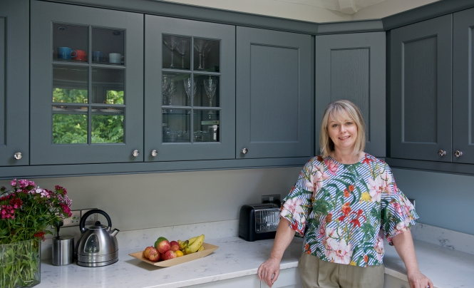 Carole Hill, Pictured in her new Wakefield Kitchen