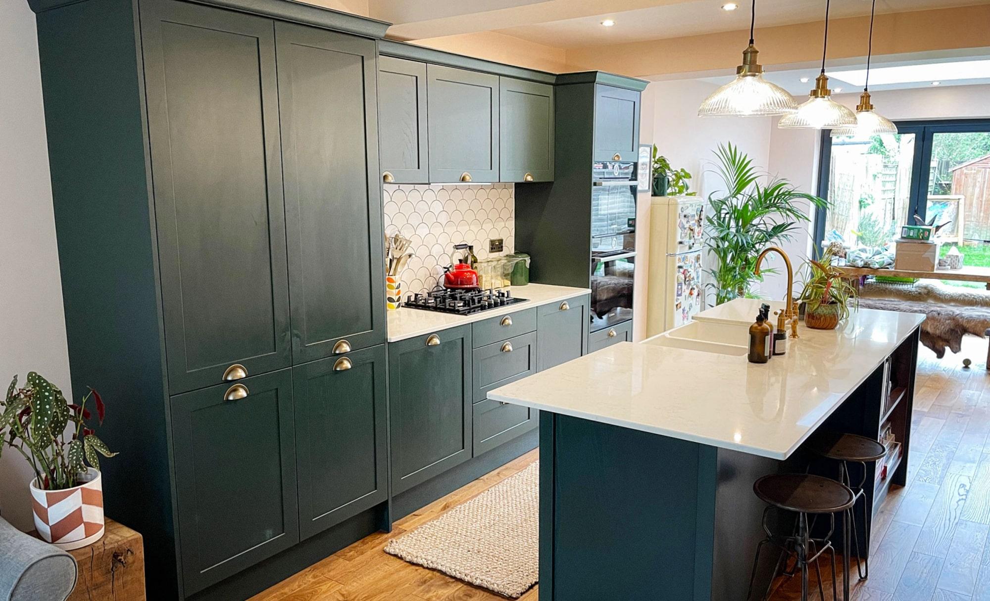 Aldana Deep Forest Kitchen by Ella Austin Kitchens Cabinets