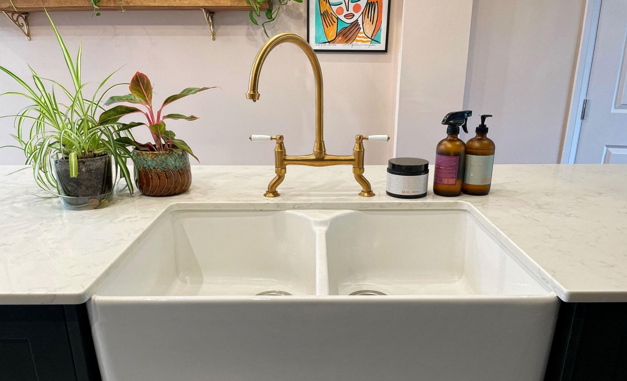 Aldana Deep Forest Kitchen by Ella Austin Kitchens Sink