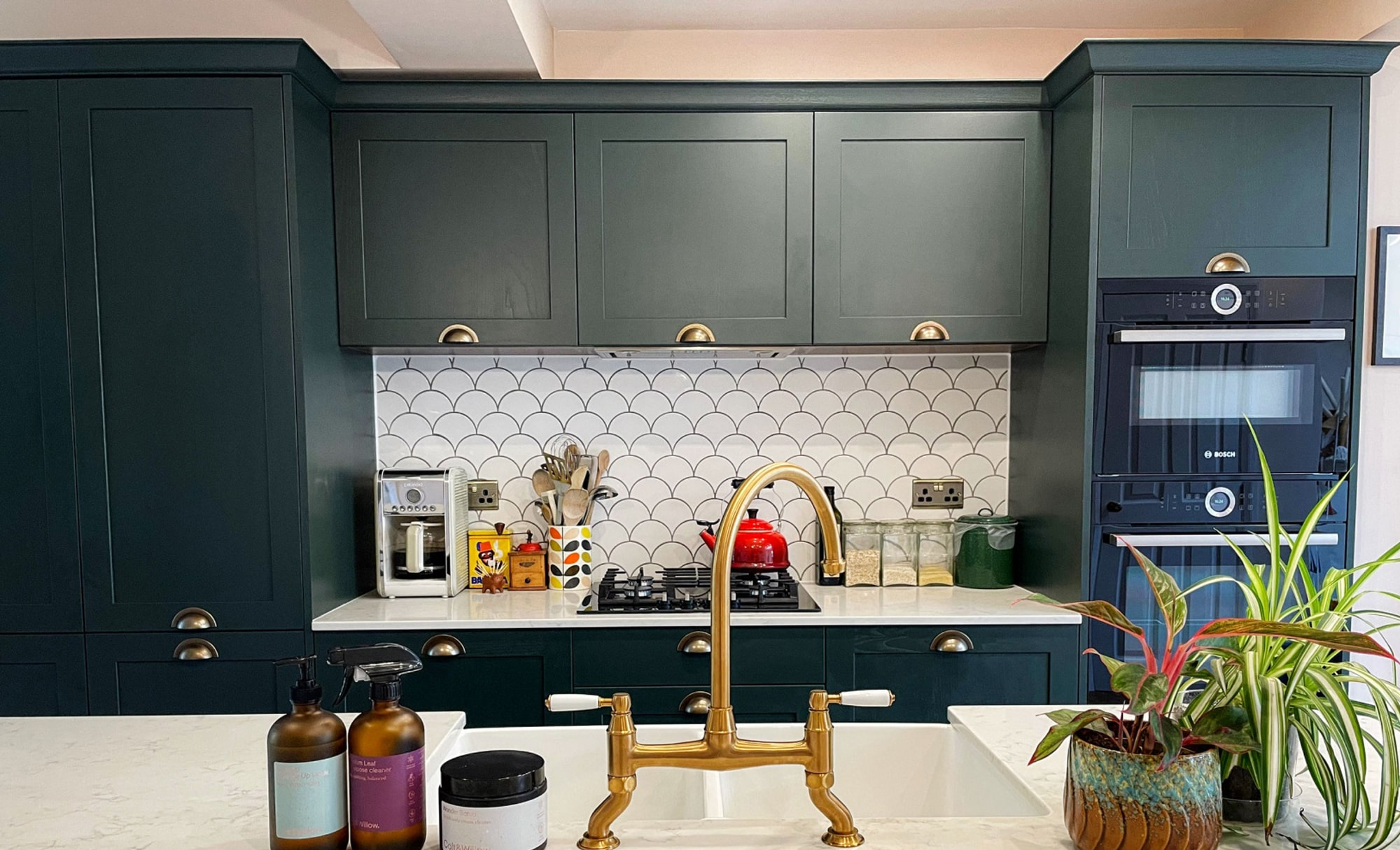 Aldana Deep Forest Kitchen by Ella Austin Kitchens Splashback