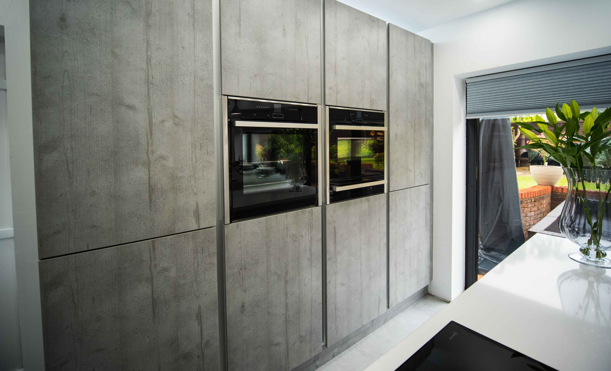 The Gallery Zola Gloss Dust Grey Kitchen Storage