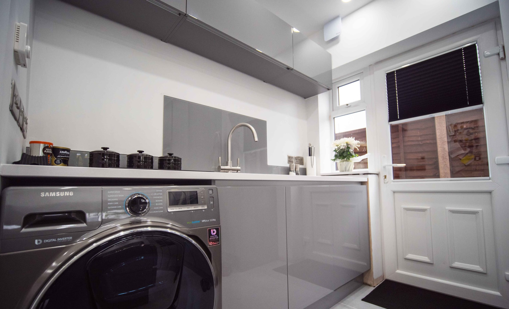 The Gallery Zola Gloss Dust Grey Kitchen Utility Room