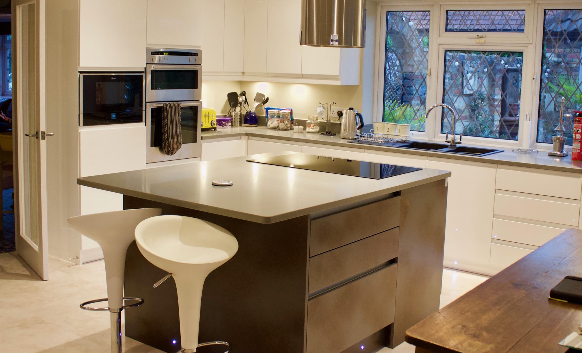 Huntersbrook Strada Gloss White & Ferro Kitchen