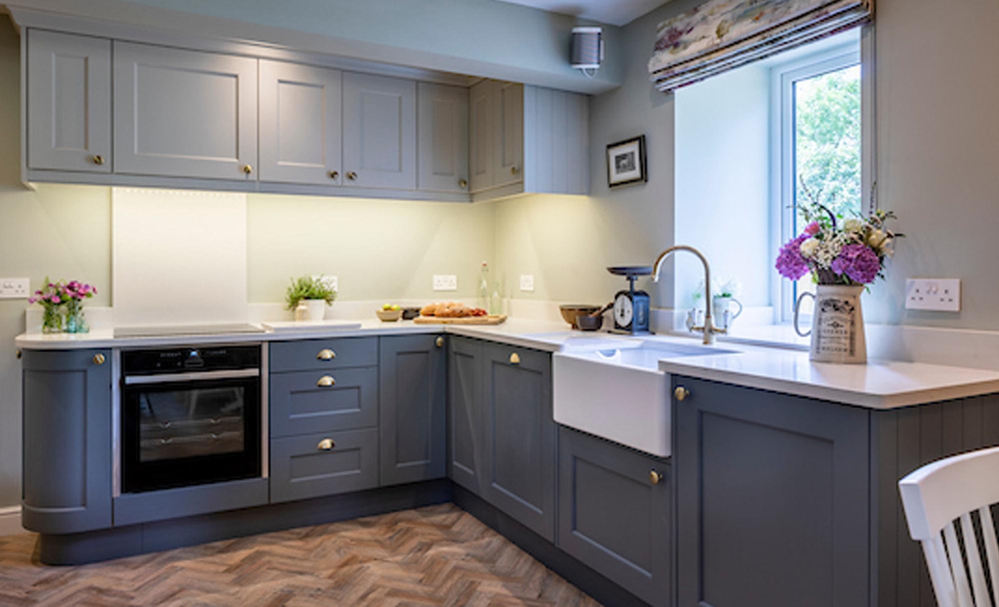 Kinder Kitchens Wakefield Gun Metal Grey & Mussel Kitchen for a home in Derbyshire