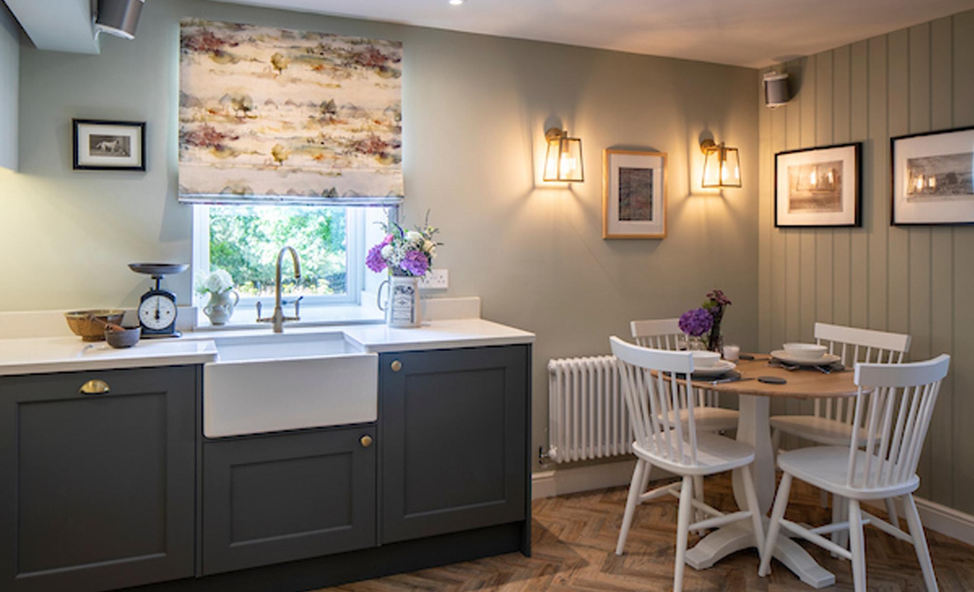 Kinder Kitchens Wakefield Gun Metal Grey & Mussel Kitchen Dining Area