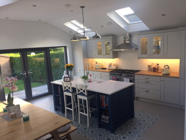 Kitchen Stori Wakefield Light Grey & Parisian Blue