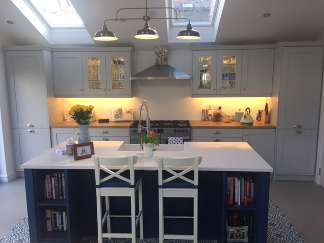Kitchen Stori Wakefield Shaker Style in Light Grey & Parisian Blue