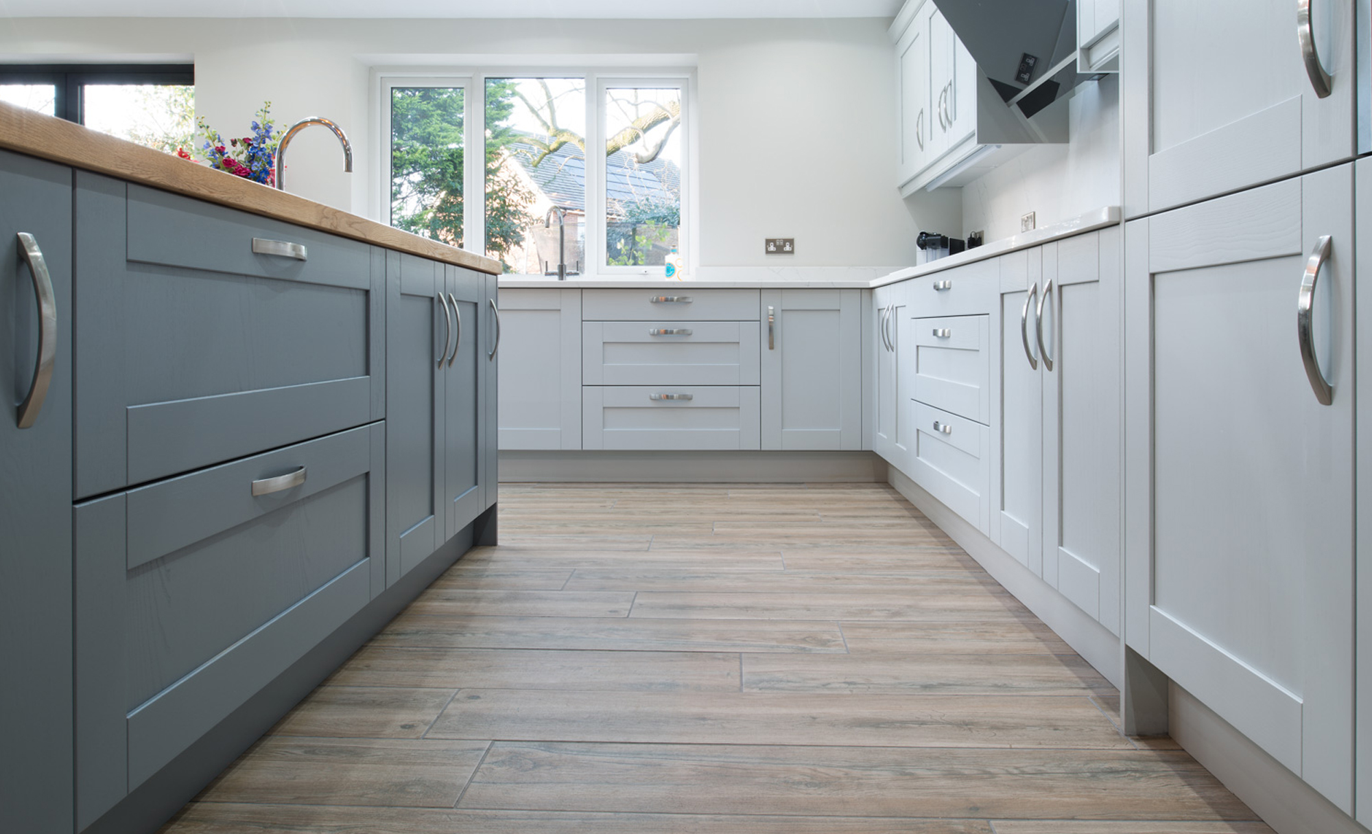 Kitchen Stori Madison Light Grey & Dust Grey Kitchen by Maelstrom for a home in Lancaster Colours