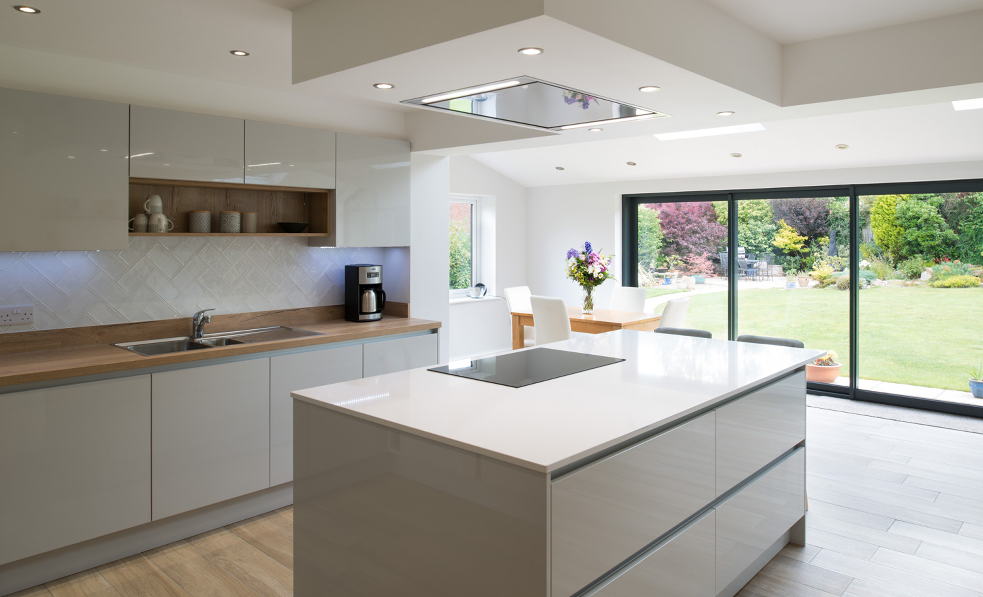 Kitchen Stori Zola Gloss Light Grey Kitchen by Maelstrom for a home in Lancaster Main