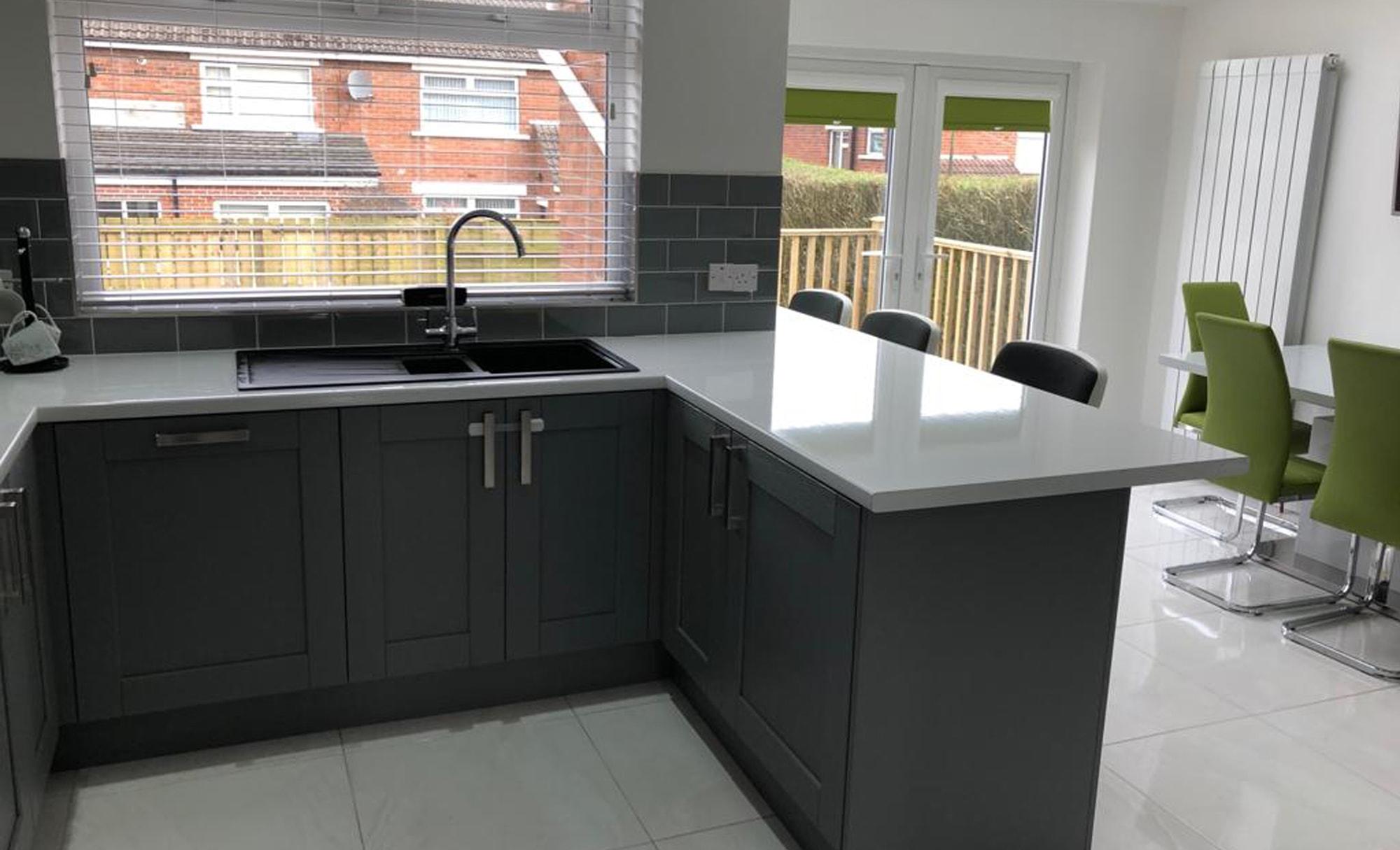 Make Kensington Light Grey & Dust Grey Kitchen