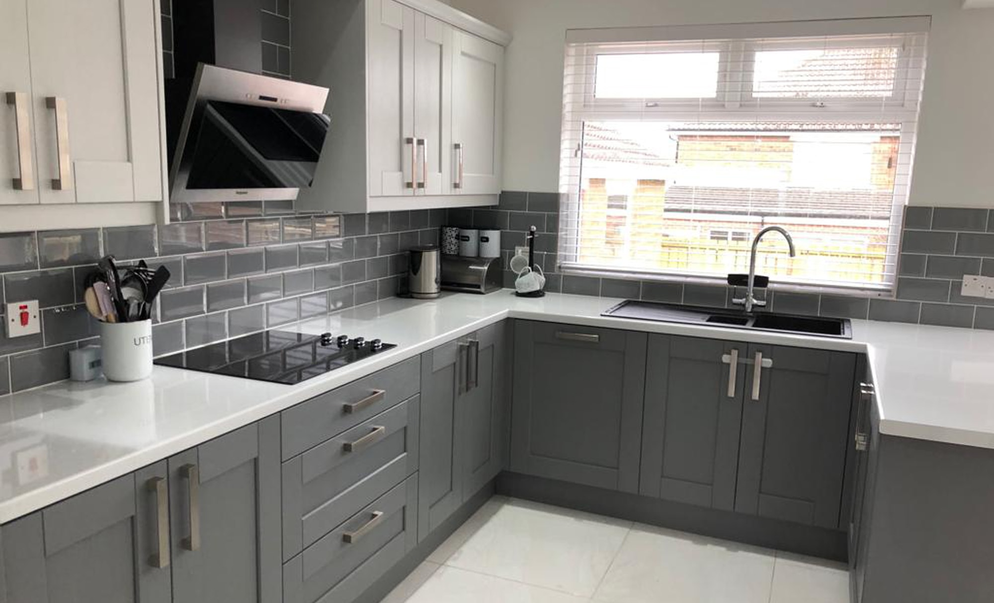 Make Kensington Light Grey & Dust Grey Kitchen for a home in Belfast