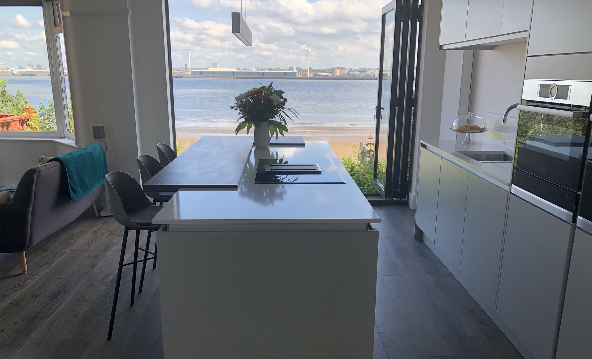 Zola Matte Kitchen by Mill Town Kitchens in Liverpool Backdrop