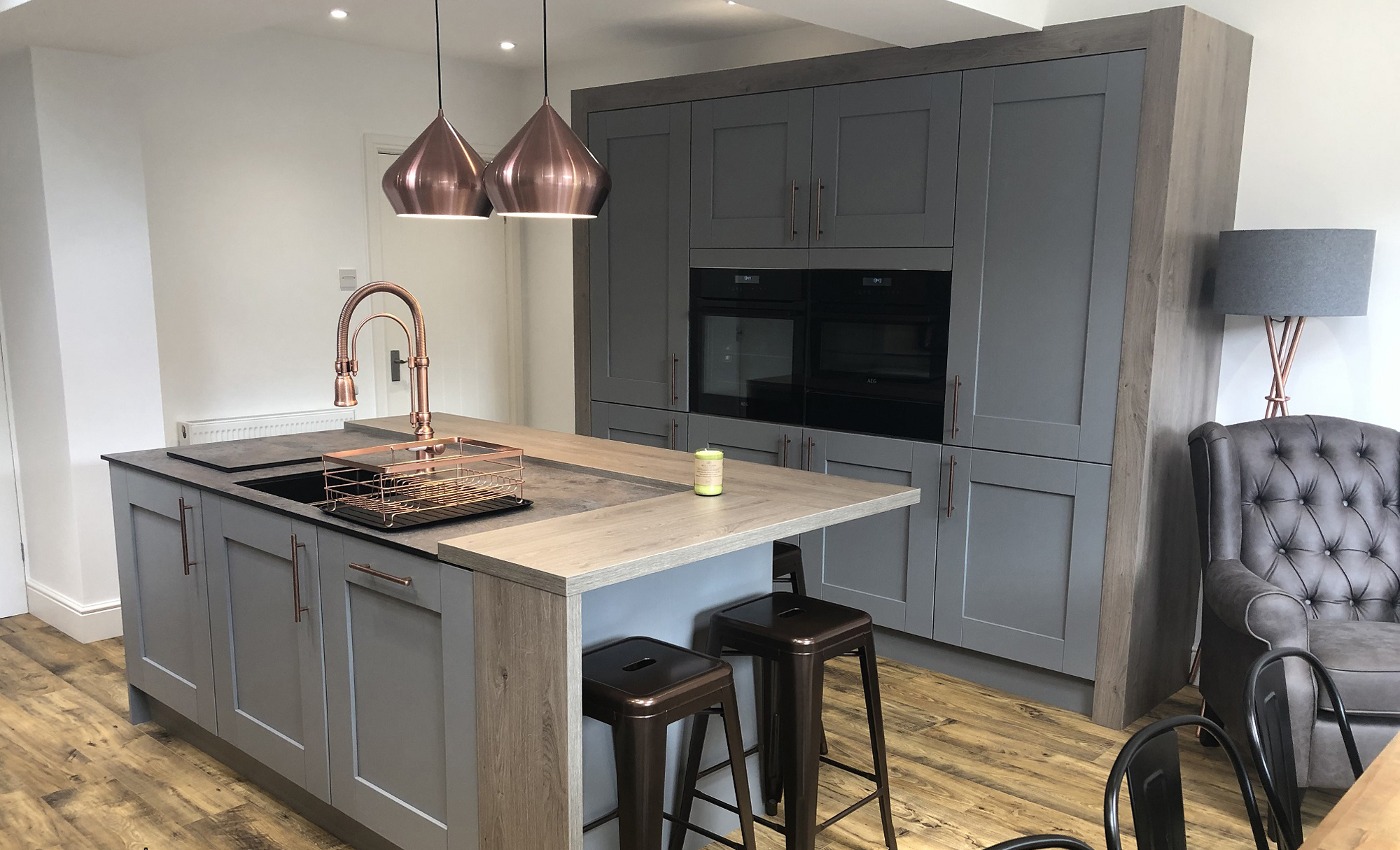 Windsor Shaker Painted Dust Grey by Mill Town Kitchens Main