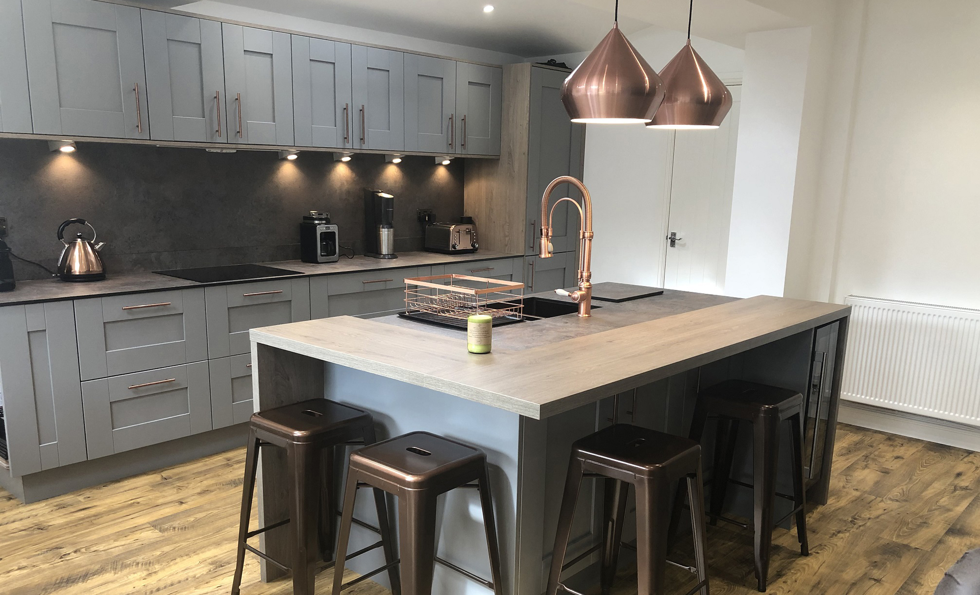 Windsor Shaker Painted Dust Grey by Mill Town Kitchens