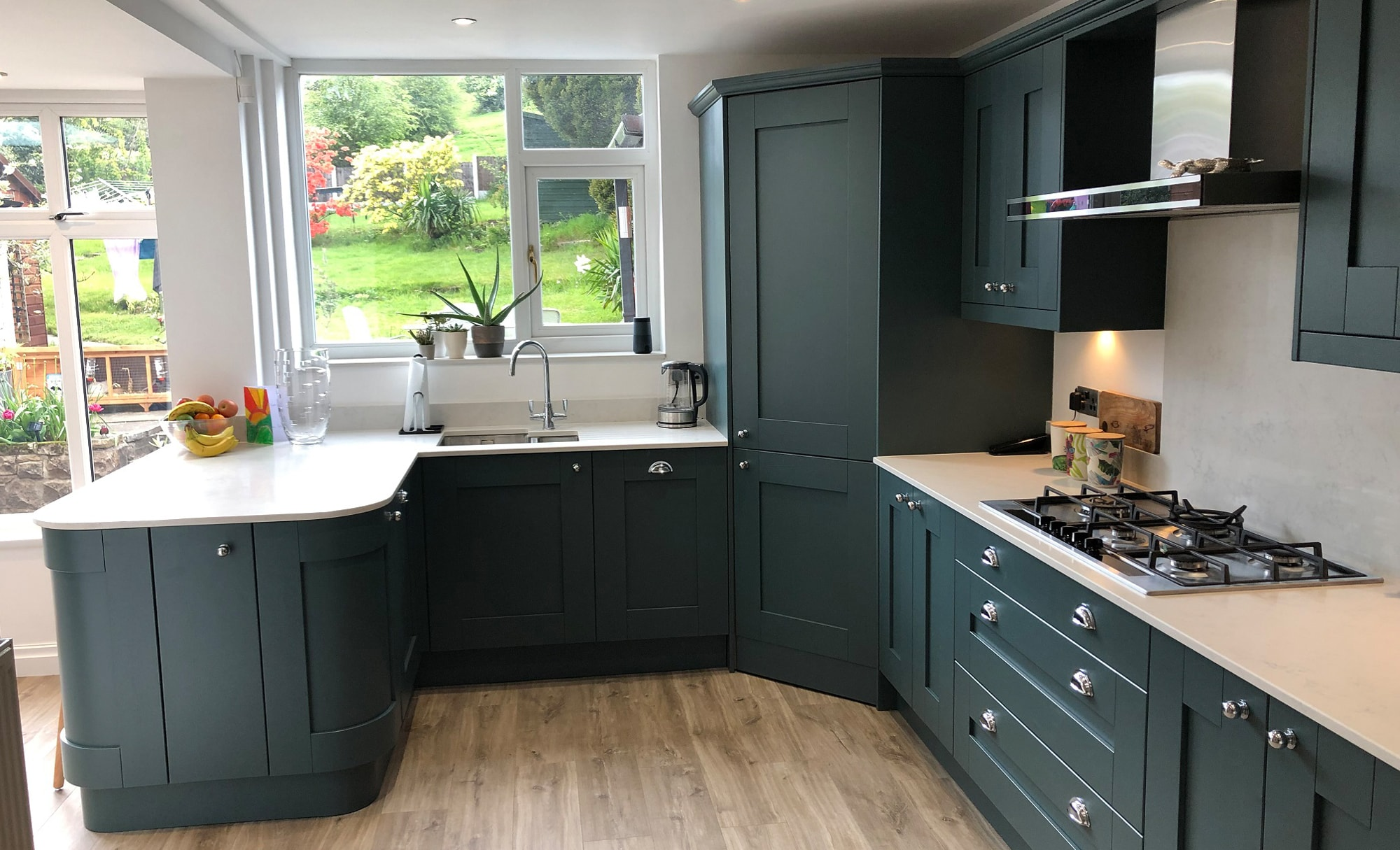Mill Town Windsor Shaker Viridian Kitchen for a home in Glossop