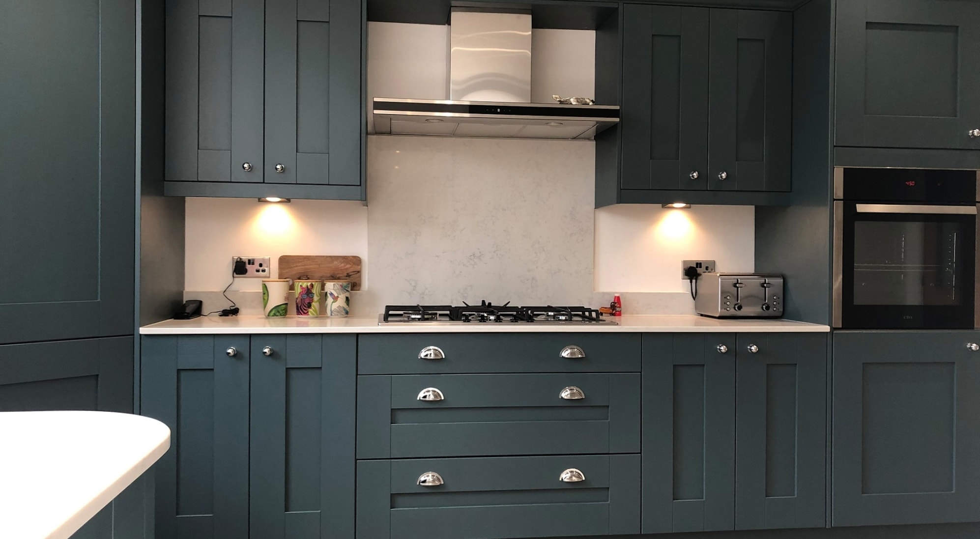 Mill Town Windsor Shaker Viridian Kitchen Cabinets
