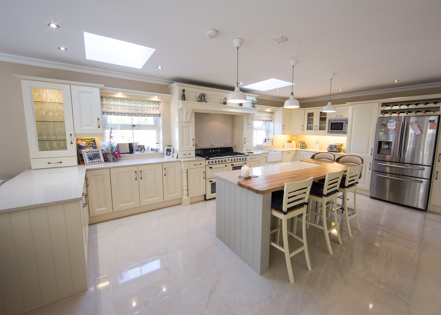Ornan Jefferson Ivory Kitchen for Mr & Mrs Kelly for a home in Co Meath