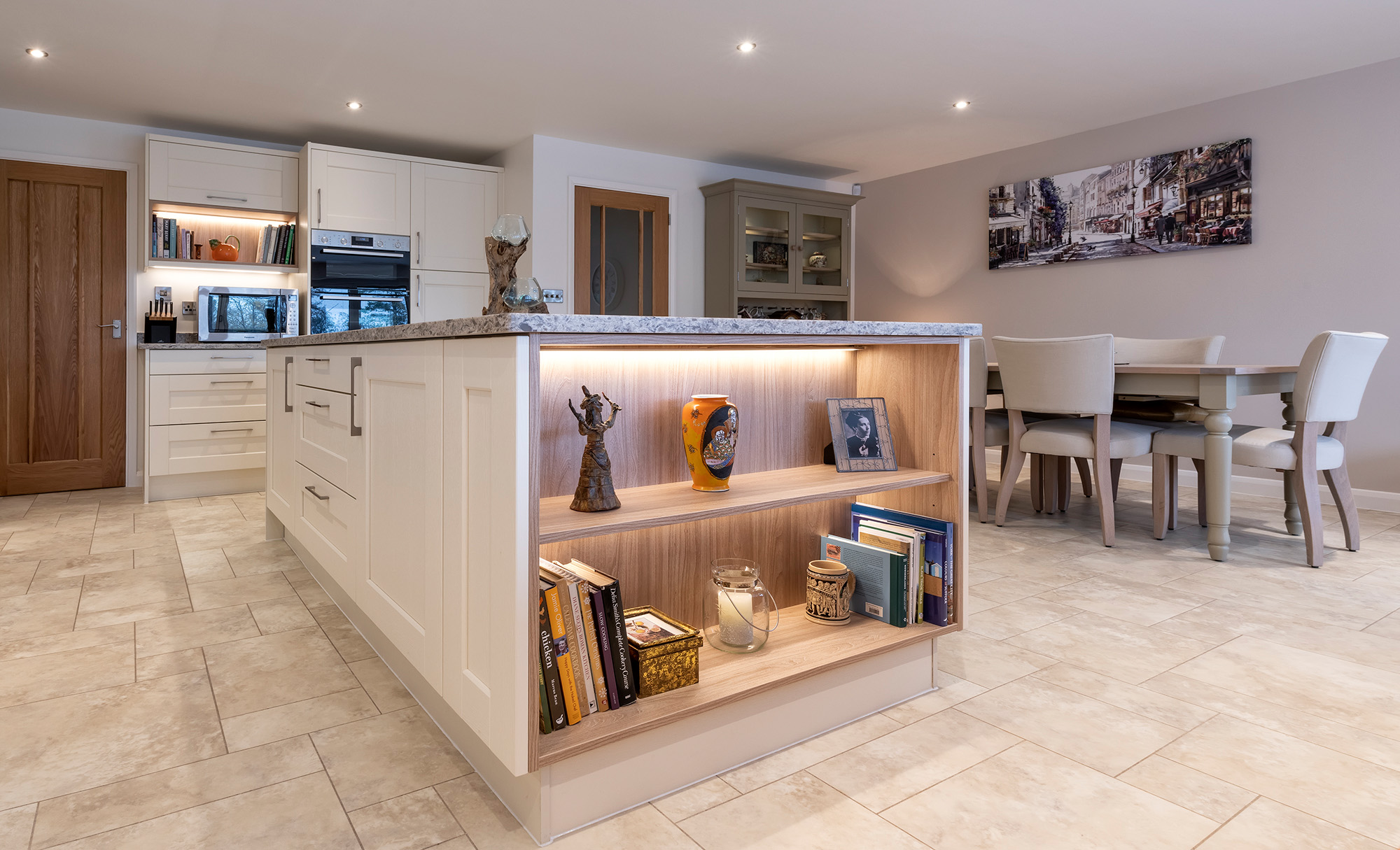 Kensington Painted Ivory Kitchen by Portishead Kitchens Shelving