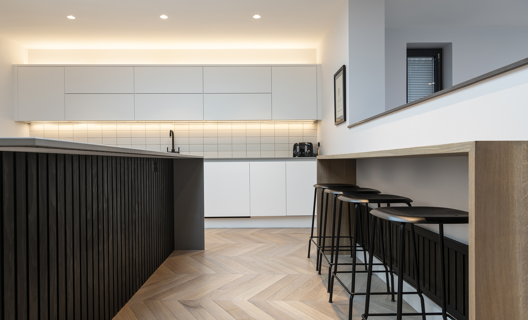 Portishead Zola Matte Almost Black & White Kitchen for a home in North Somerset