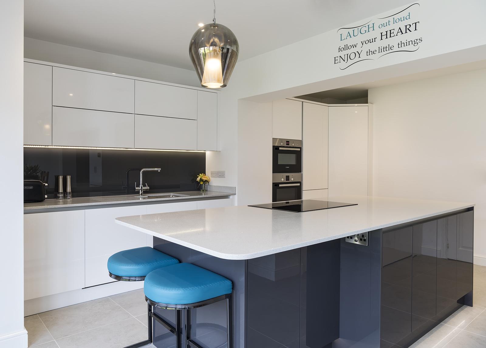Portishead Zola Gloss White Kitchen for Mr & Mrs Cobb of North Somerset