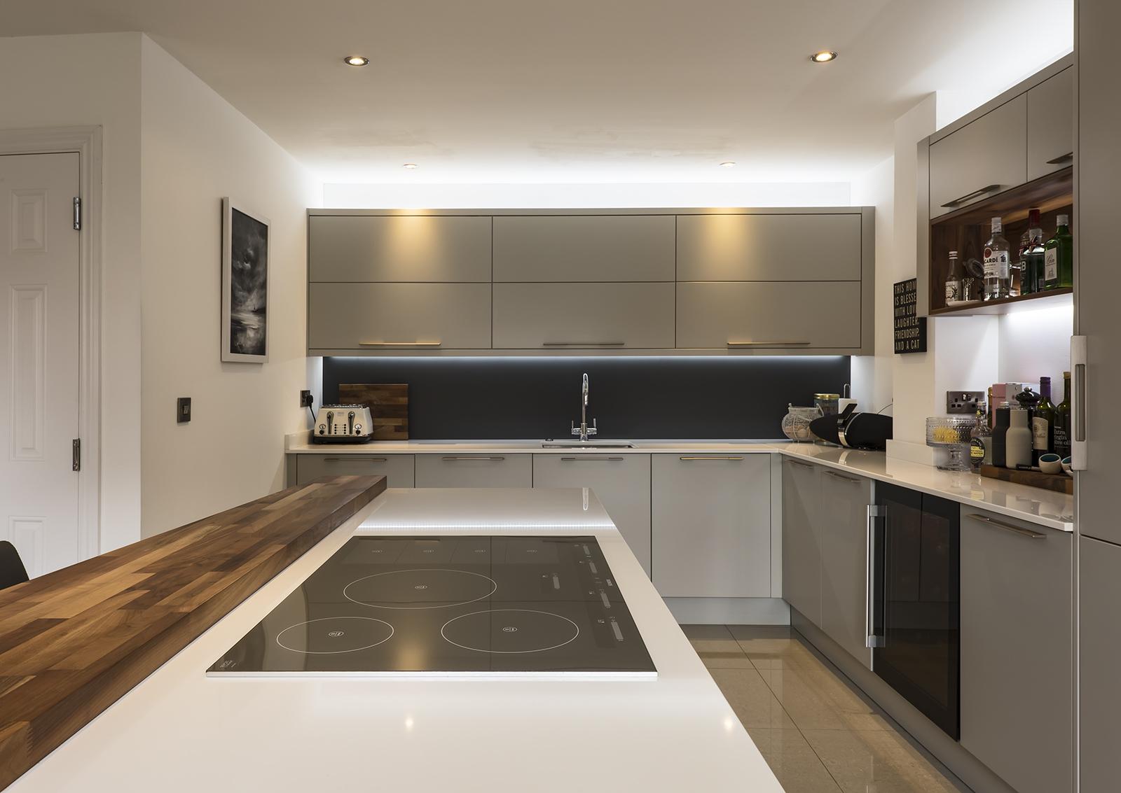 Portishead Zola Matte Light Grey Kitchen Oven