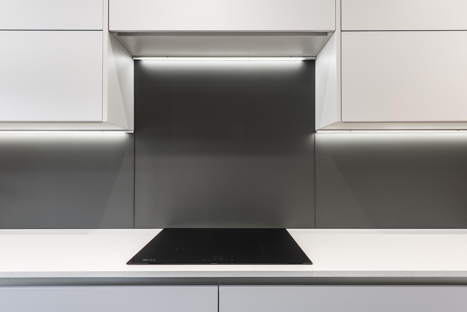 Portishead Zola Matte Light Grey Kitchen Hob