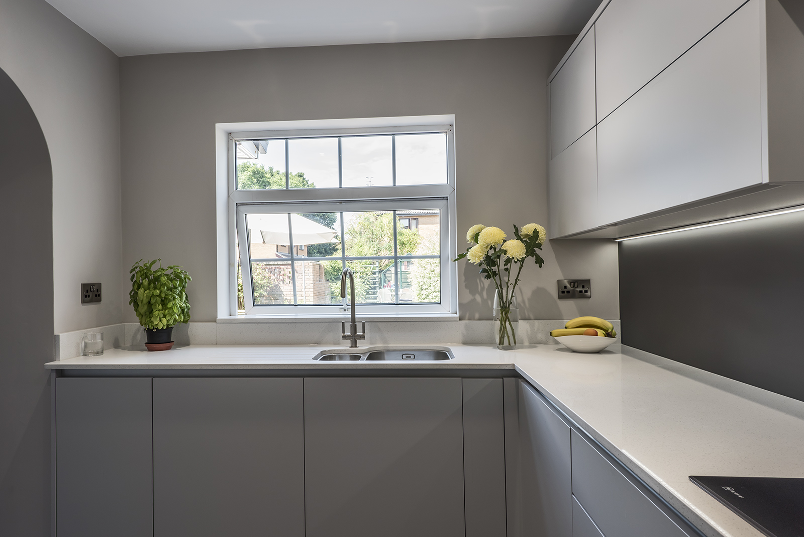 Portishead Zola Matte Light Grey Kitchen for Mrs Brightman of Portishead