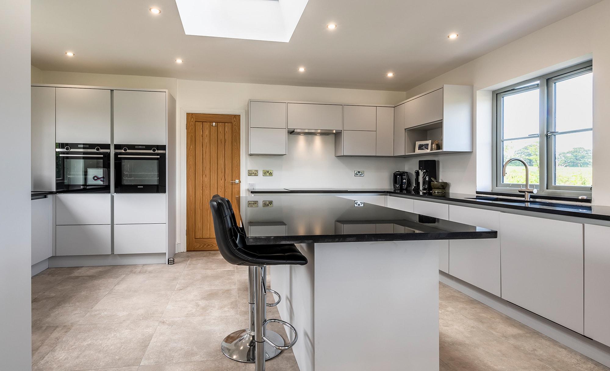 Zola Matte Light Grey kitchen for Adrian & Sara of North Somerset