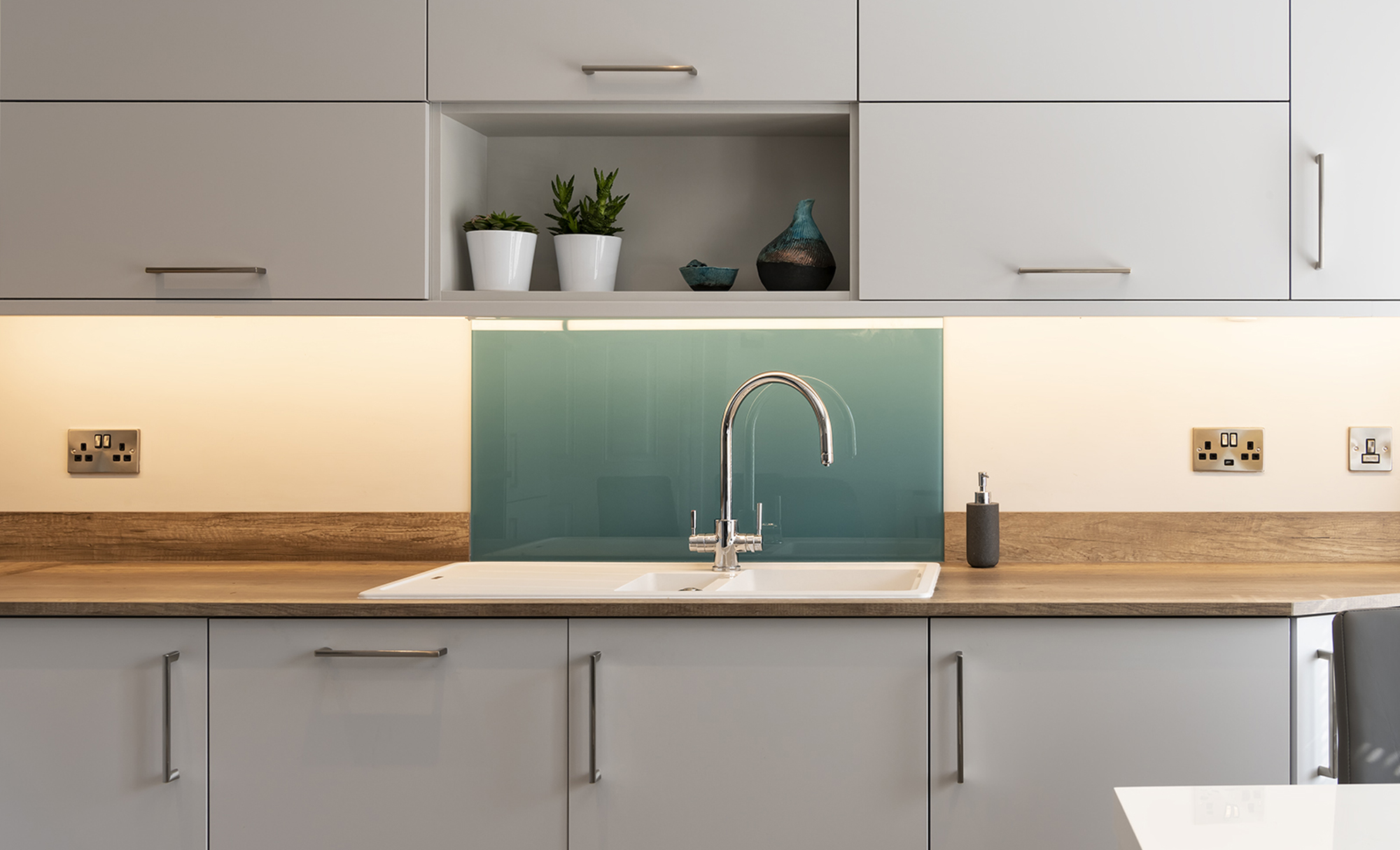 Portishead Kitchens Zola Matte Light Grey Kitchen Sink