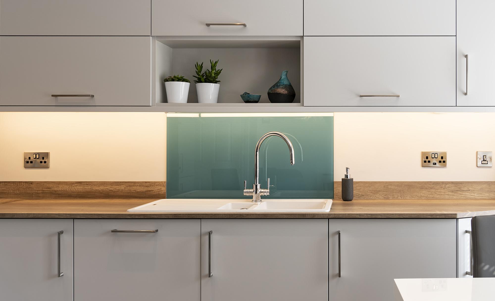 Portishead Kitchens Zola Matte Light Grey Kitchen Sink