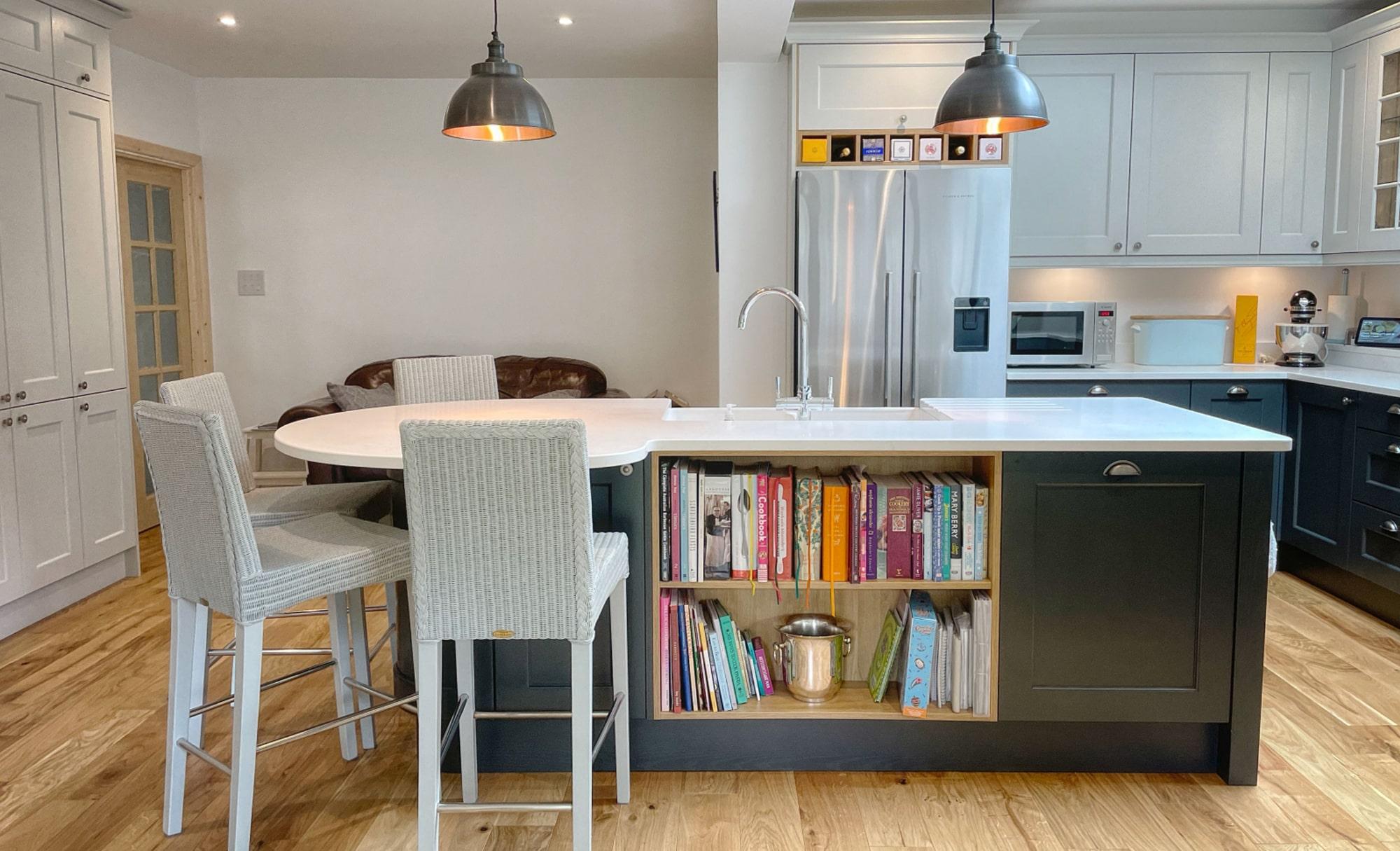 Kitchen Stori Wakefield Graphite and Light Grey Island