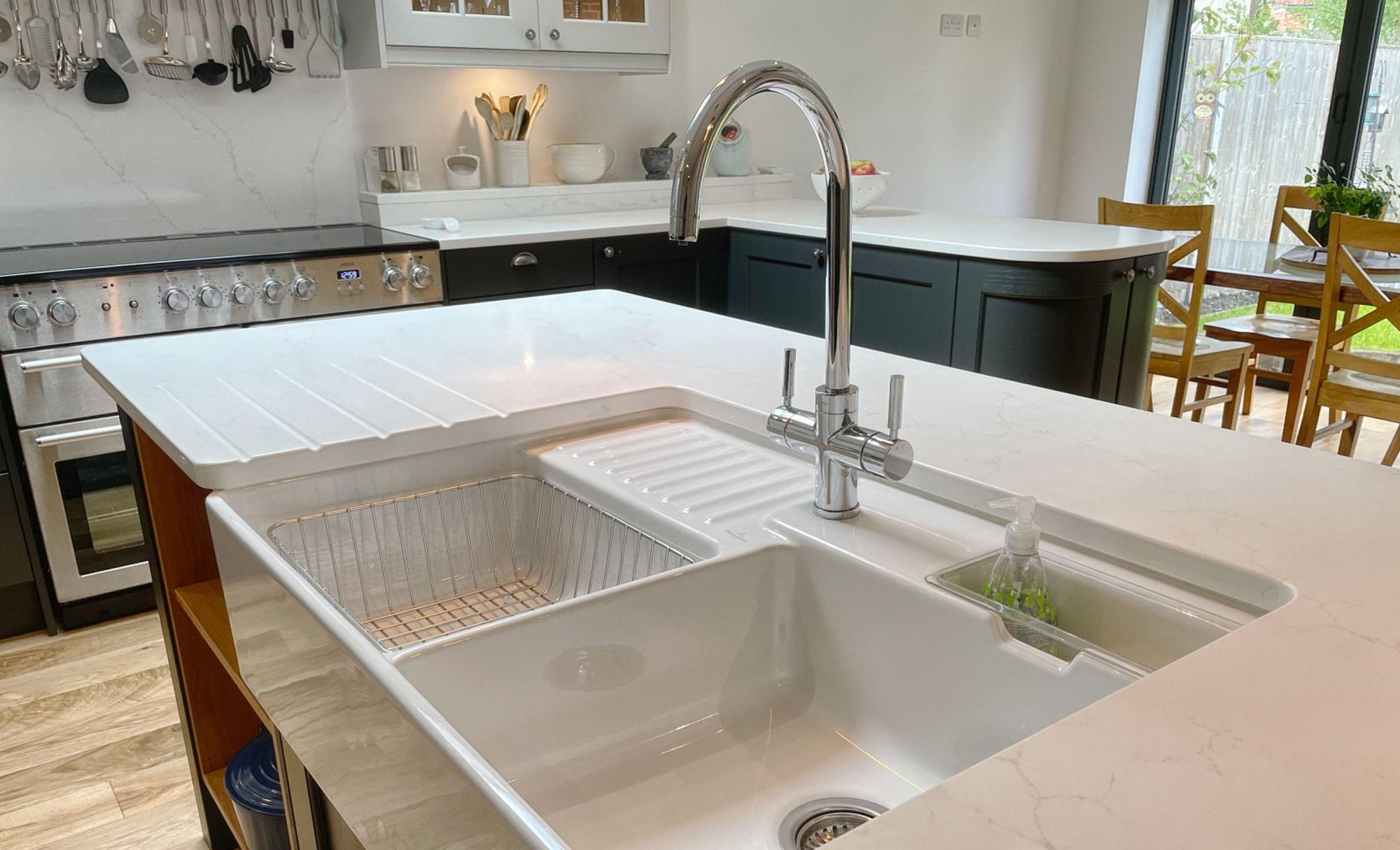 Kitchen Stori Wakefield Graphite and Light Grey Sink