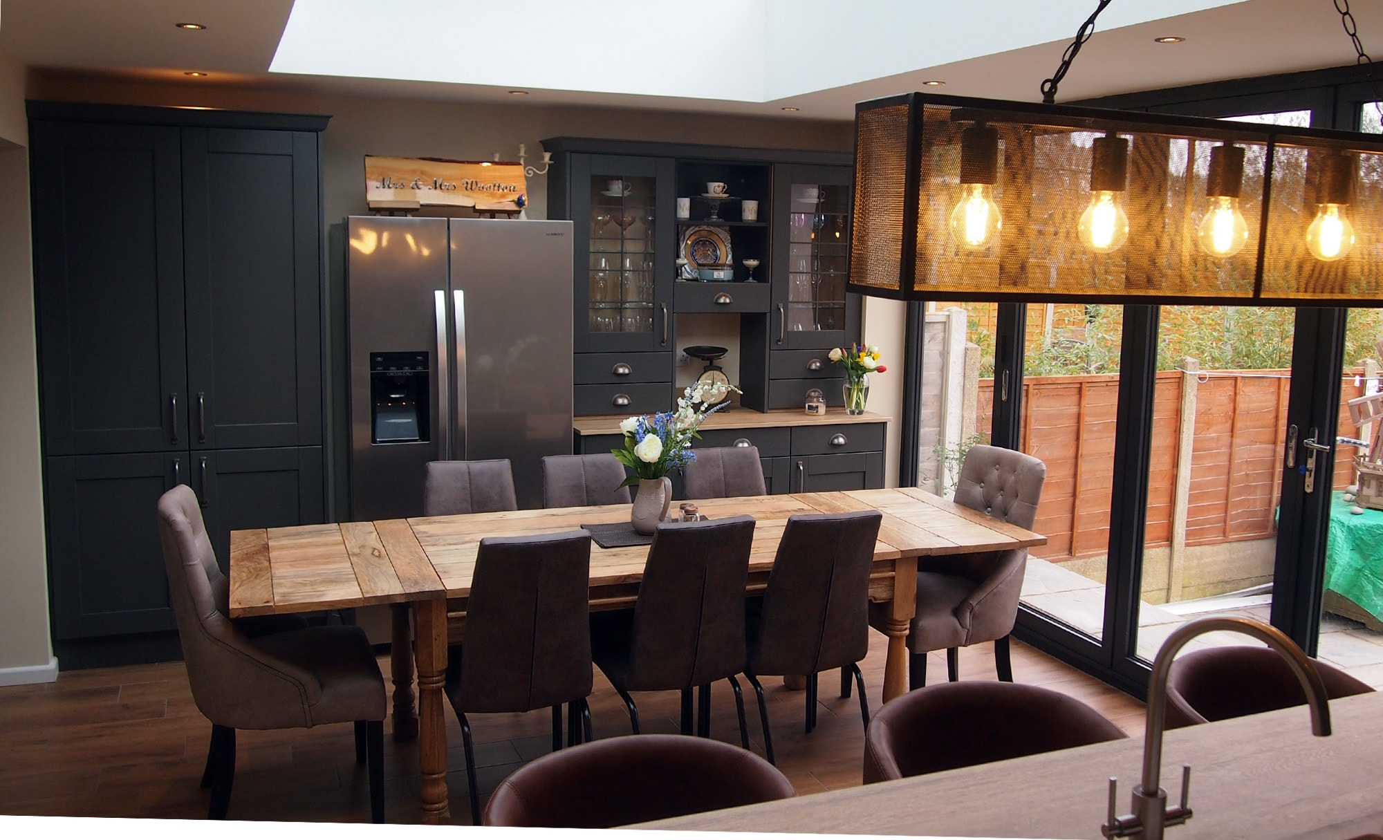 The Gallery Madison Graphite Kitchen Dining Table