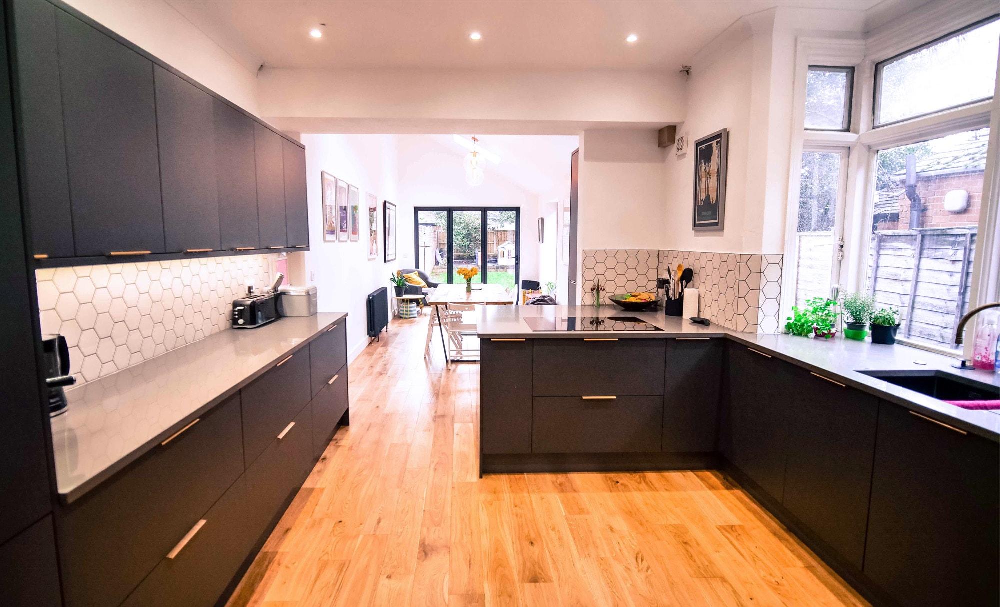The Gallery Zola Matte Graphite Kitchen for Mr & Mrs Simcox of Stourbridge