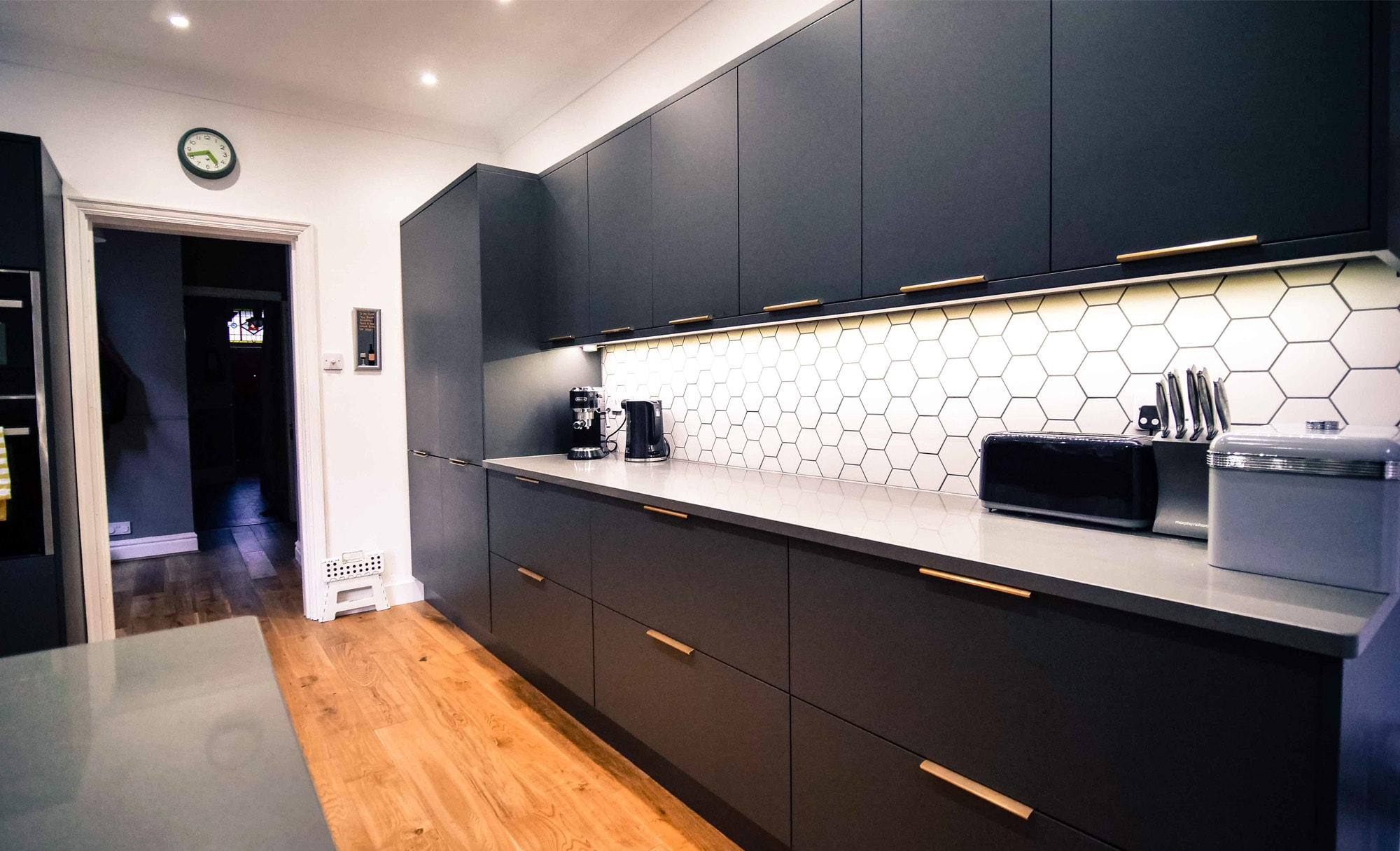 The Gallery Zola Matte Graphite Kitchen Cabinets