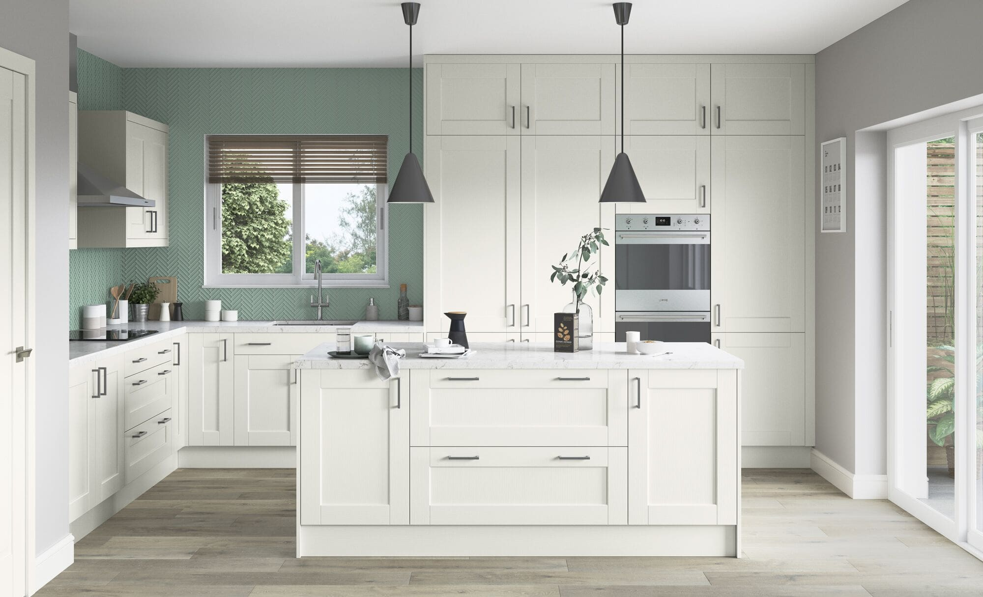 Classic Modern Kensington Porcelain Kitchen
