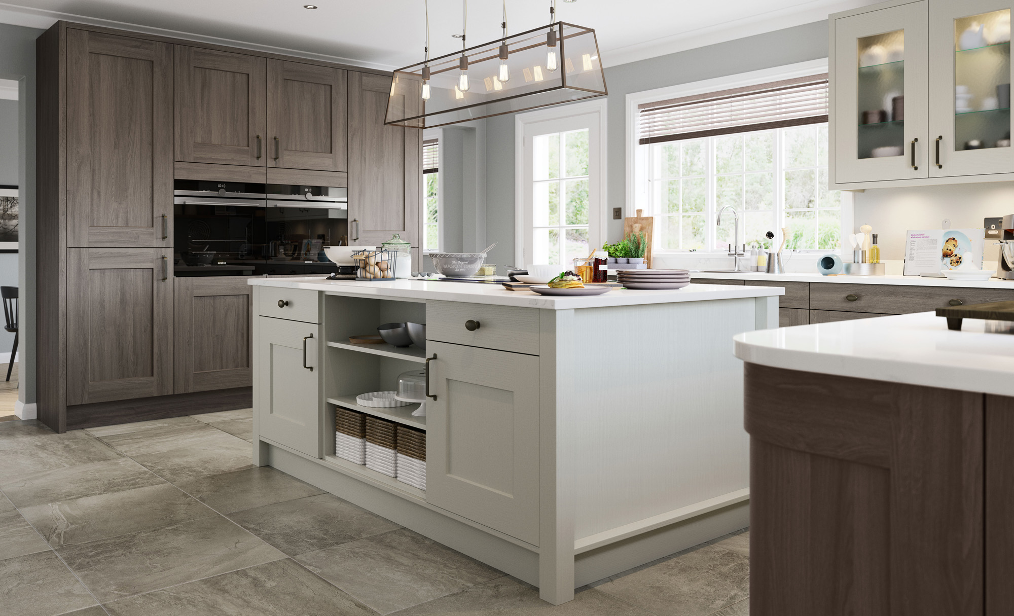 Clonmel Shaker Style Kitchen in Painted Light Grey & Anthracite