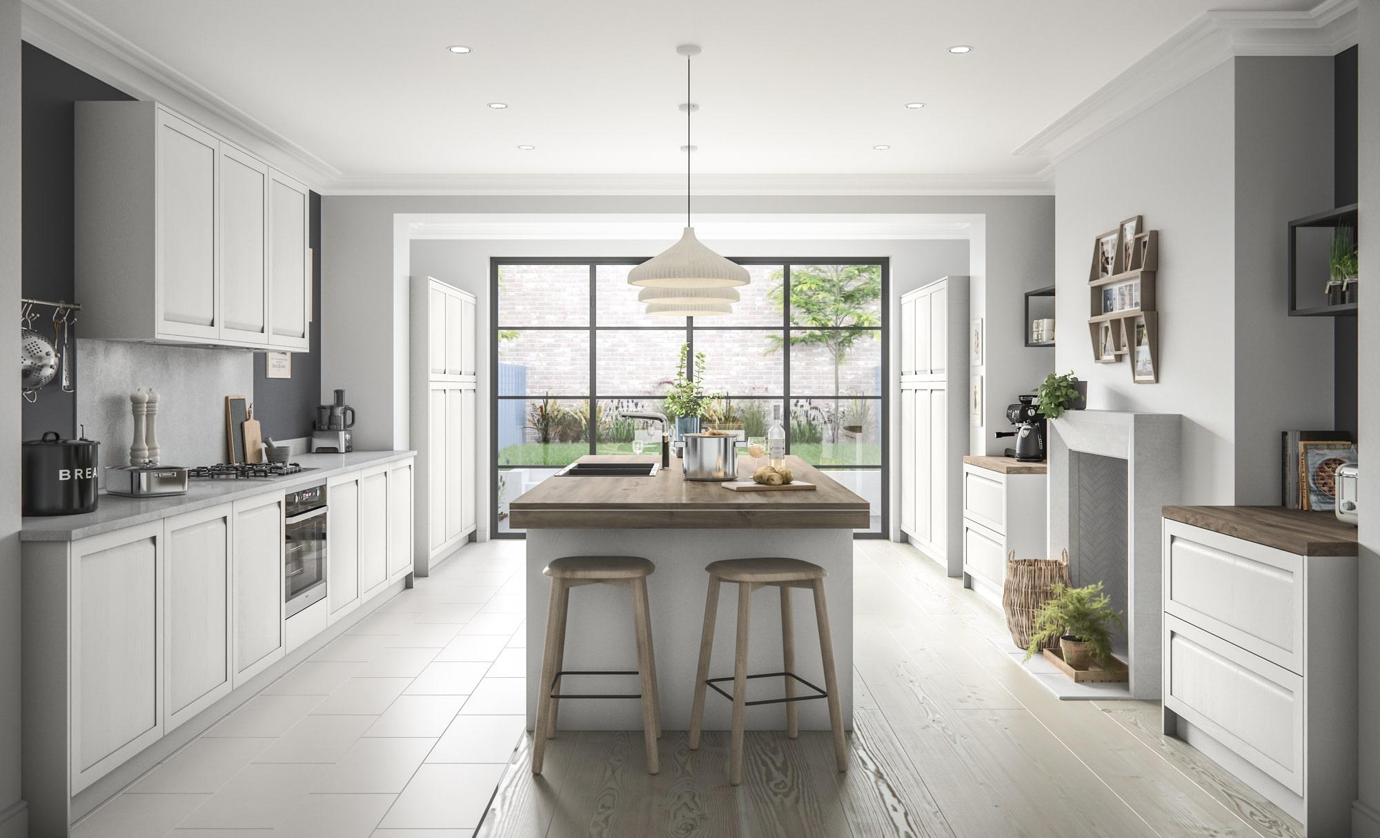 Classic Harborne Kitchen in Light Grey