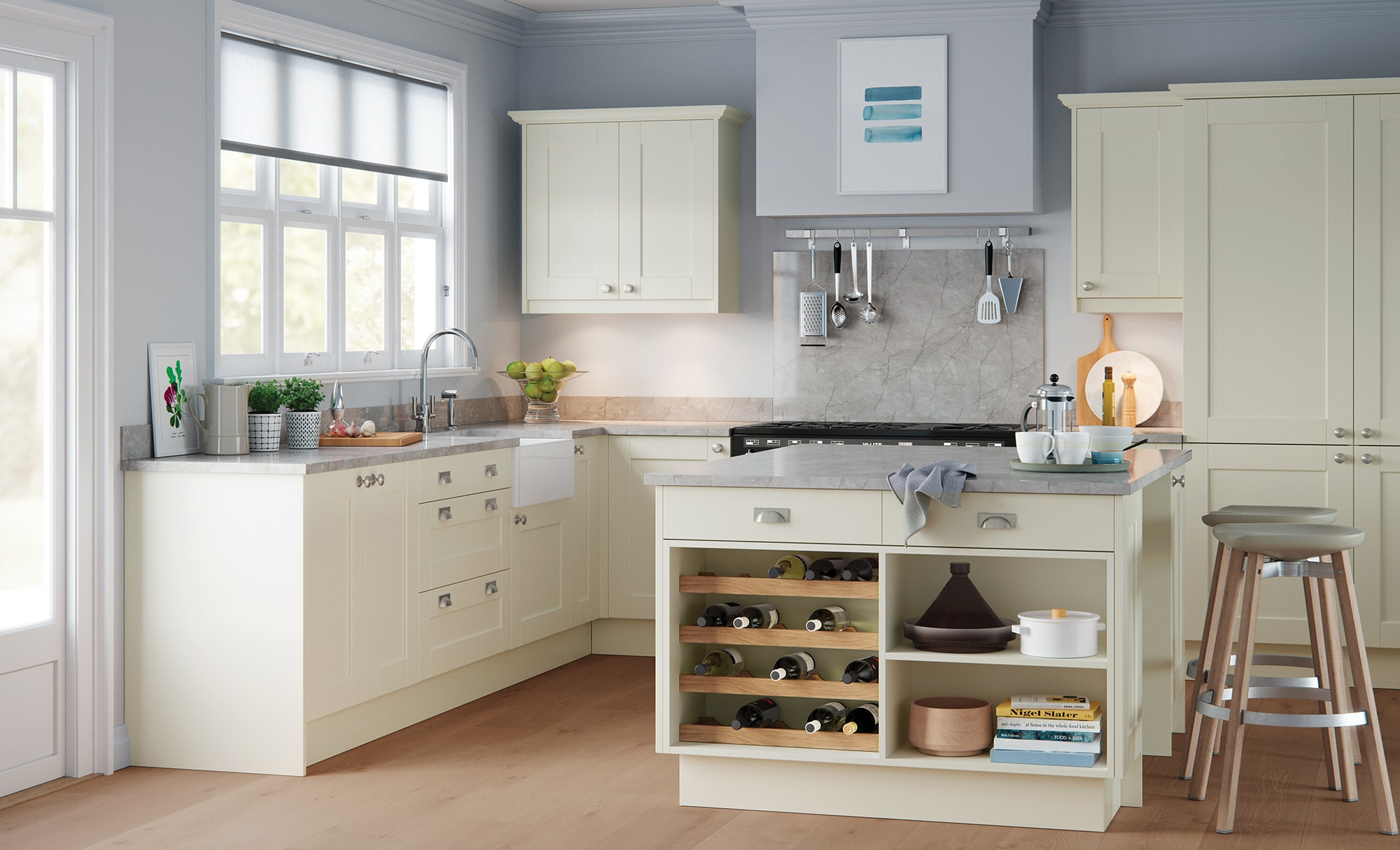 Classic Traditional Kensington Shaker Kitchen in Painted Porcelain