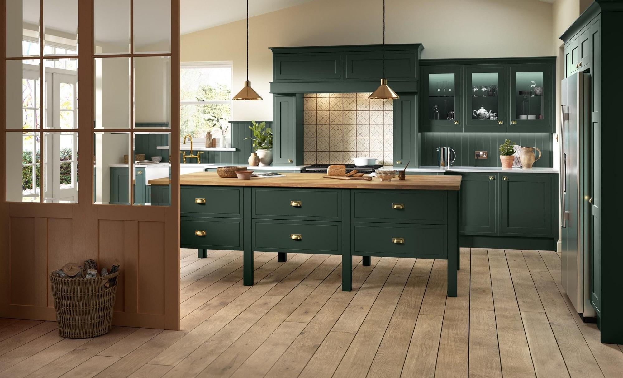 Kitchen Stori Ellesmere Heritage Green Kitchen