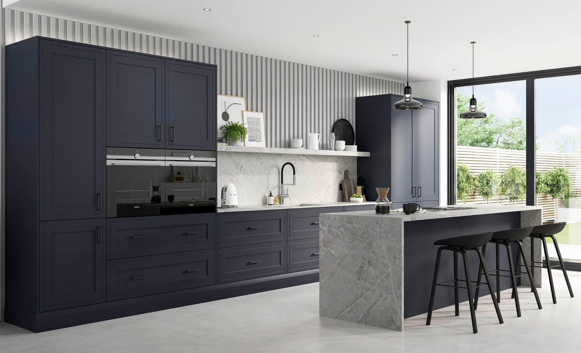 Kitchen Stori Ellesmere Slate Blue Hero