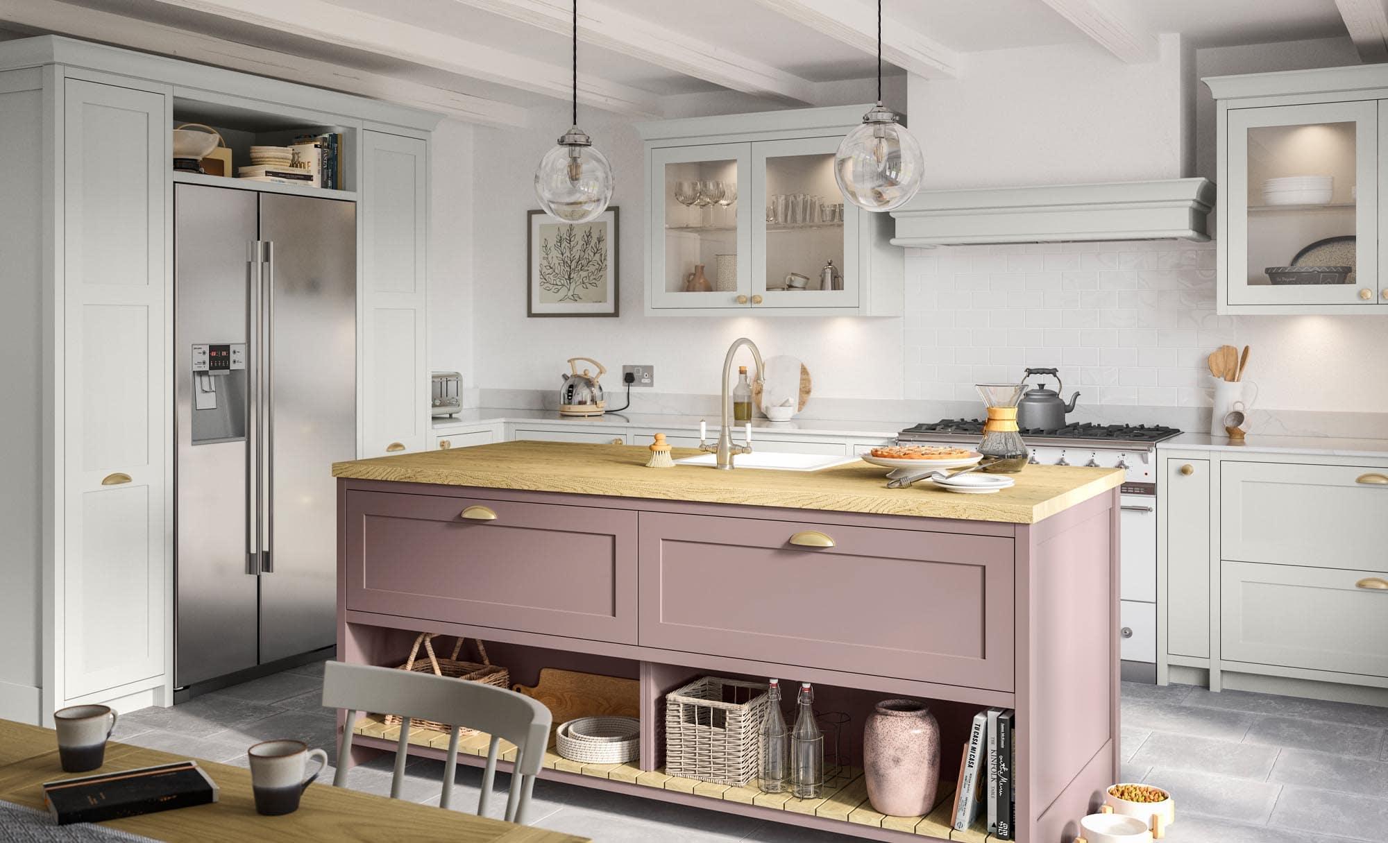 Kitchen Stori Clifden Vintage Pink and Light Grey
