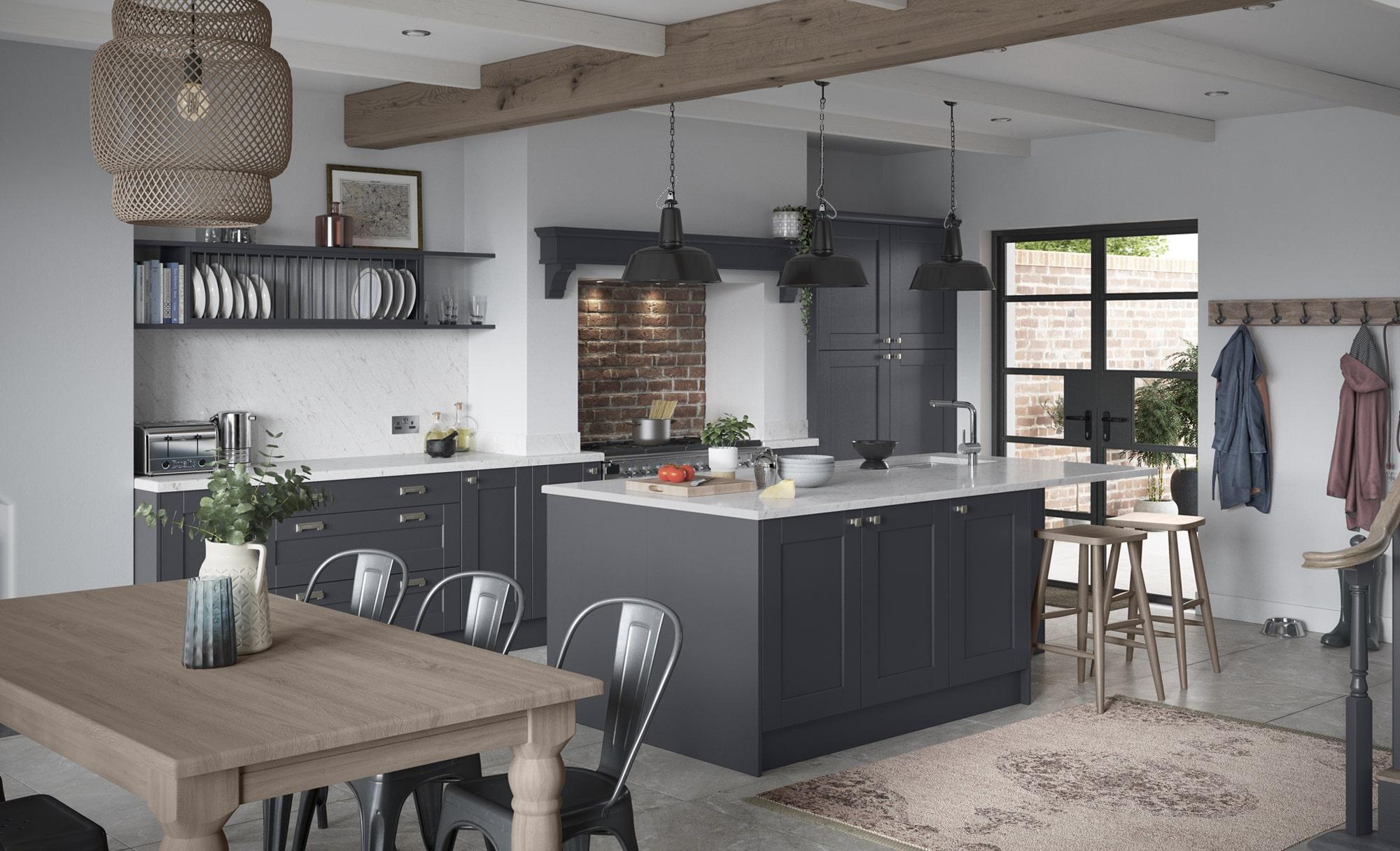 Country Kensington Indigo Kitchen