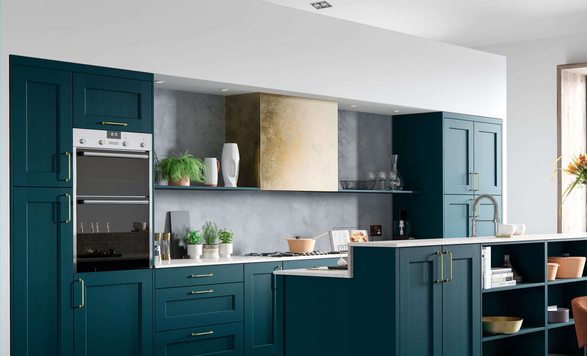 Classic Modern Wakefield Shaker Style Kitchen in Painted Marine