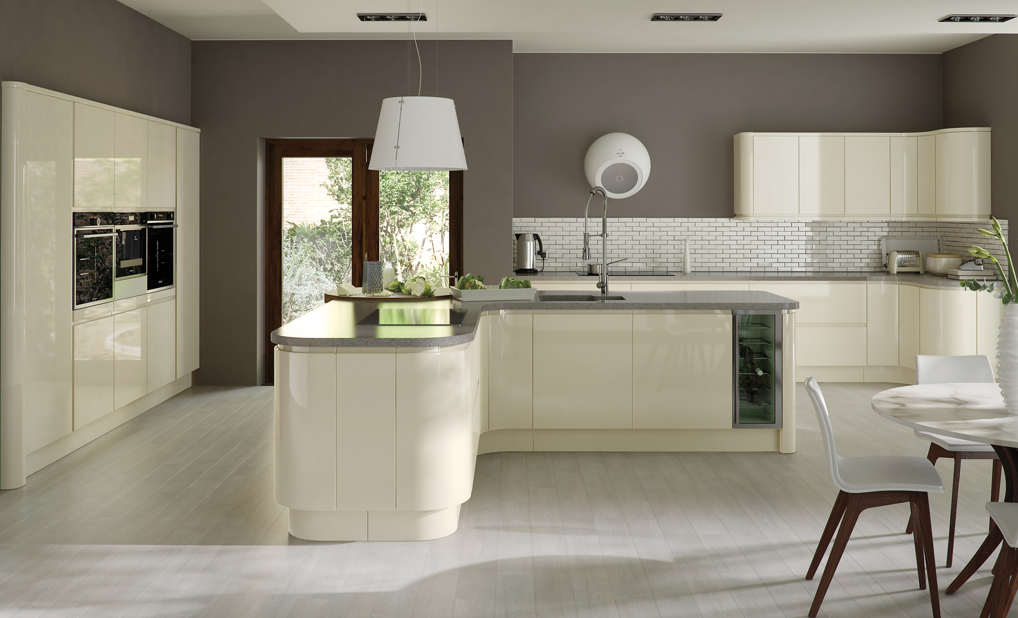 Ivory Kitchen Zola Gloss Contemporary Ivory Kitchen Stori
