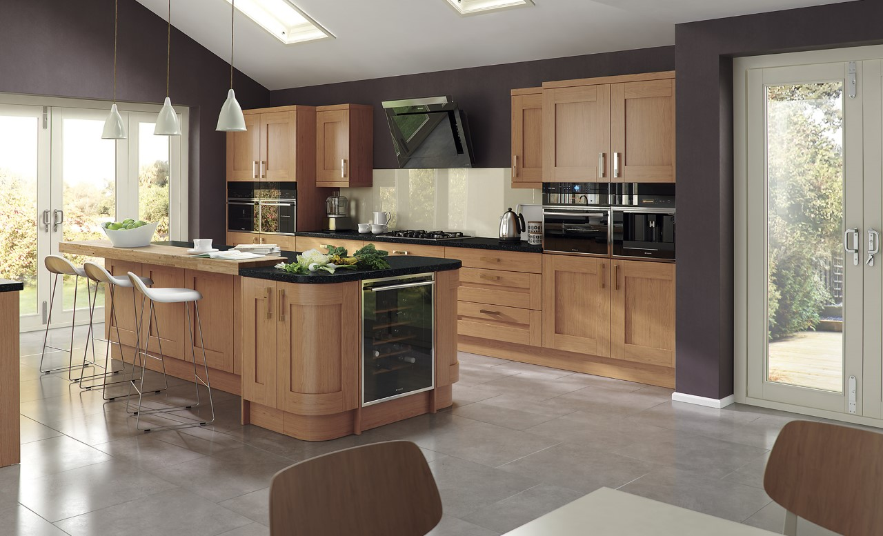 Modern Contemporary Windsor Shaker Oak Kitchen