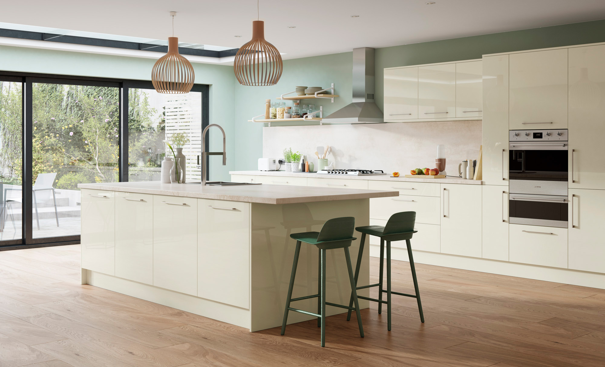 Zola Gloss Kitchen in Porcelain