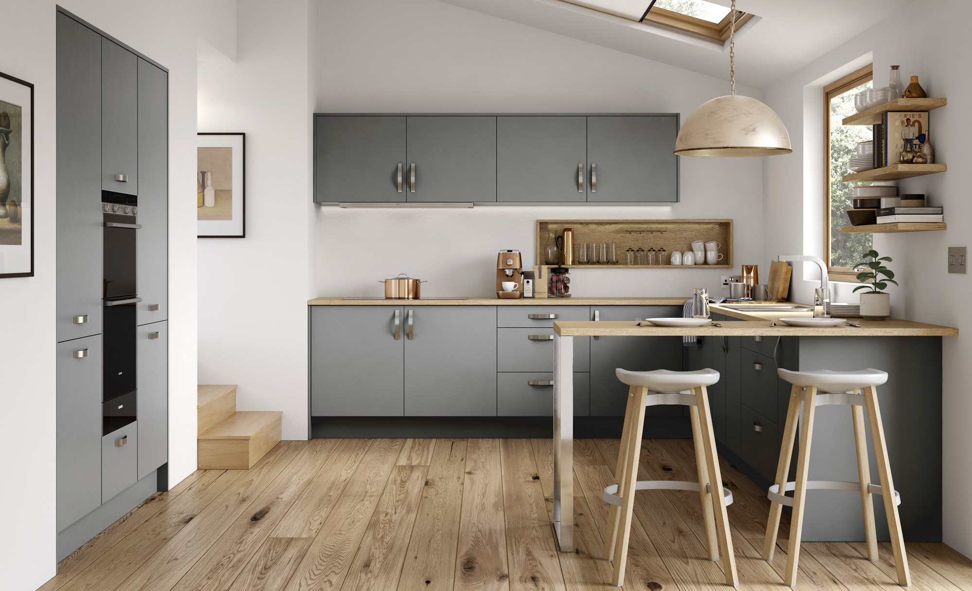 Zola - Matt grey kitchen doors